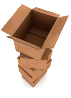 card board boxes in a pile