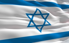 Waving flag of Israel